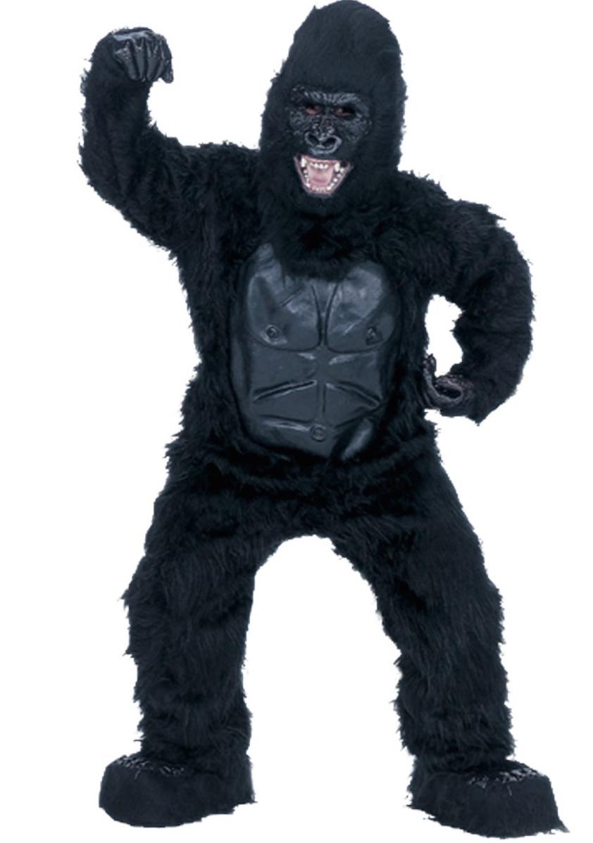 Man in a gorilla costume.