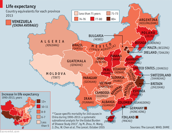 China S Life Expectancy By Province Mapped That S Shanghai