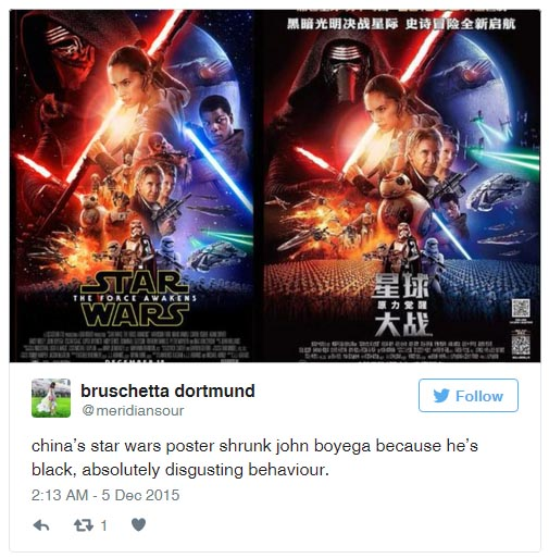 Twitter reacts to Star Wars removing Black Actor