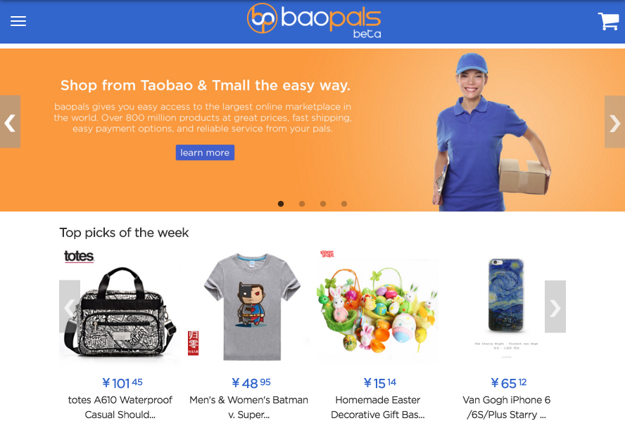 Baopals translates Taobao into English for you