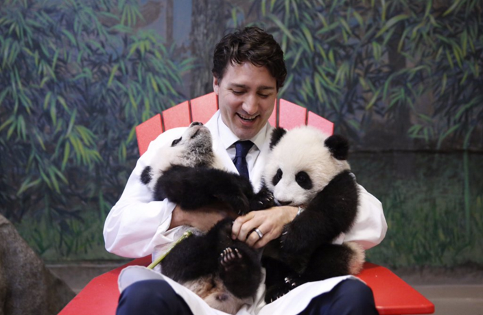 Justin Trudeau Meets Canada's First Giant Pandas