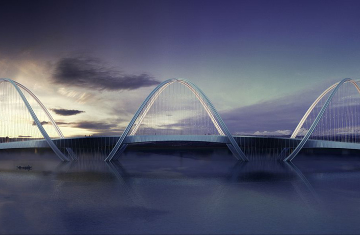 Stunning Bridge Proposed for 2022 Beijing Winter Games
