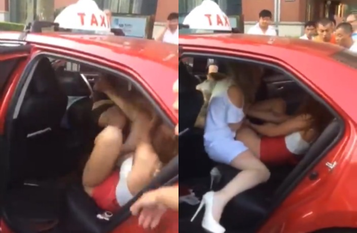 WATCH: Half-Naked Russian Girls Brawl in Back of Cab in China