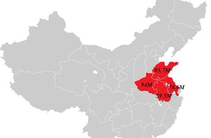 This Map Shows How The US Population Fits Into China Thatsmagscom - Gray map us