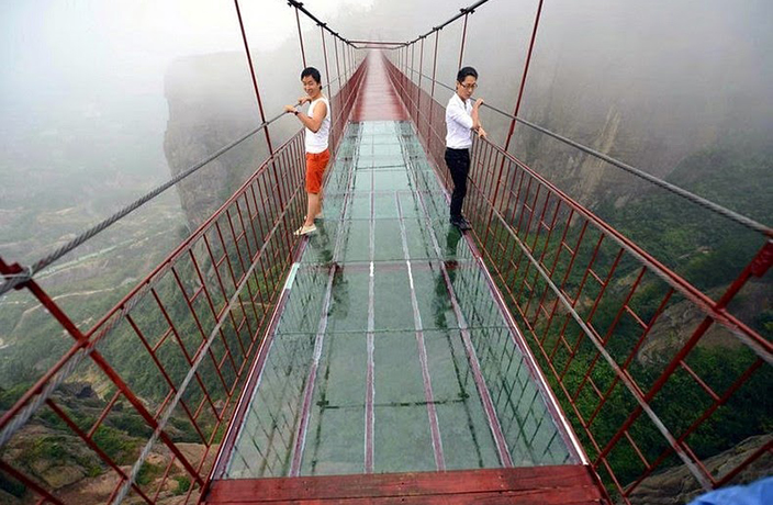Record Breaking Glass Bottomed Bridge Closes Just 13 Days After Grand Opening