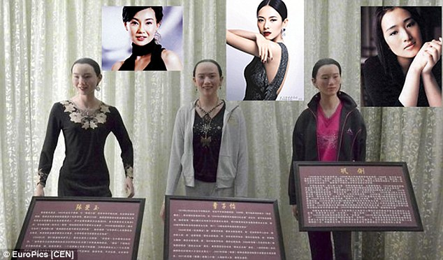 Terrible Wax Museum in Sichuan, China with bad waxworks of Maggie Cheung, Zhang Ziyi and Gong Li