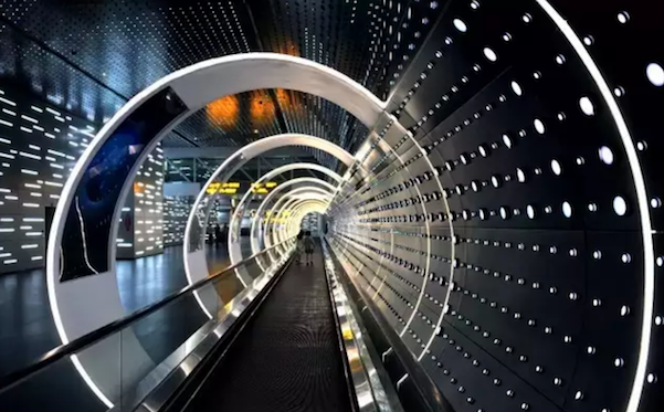 Guangzhou Airport Unveils Futuristic Space Time Tunnel