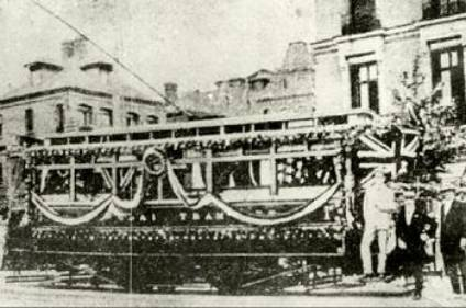 Shanghai's First Tram, in 1908
