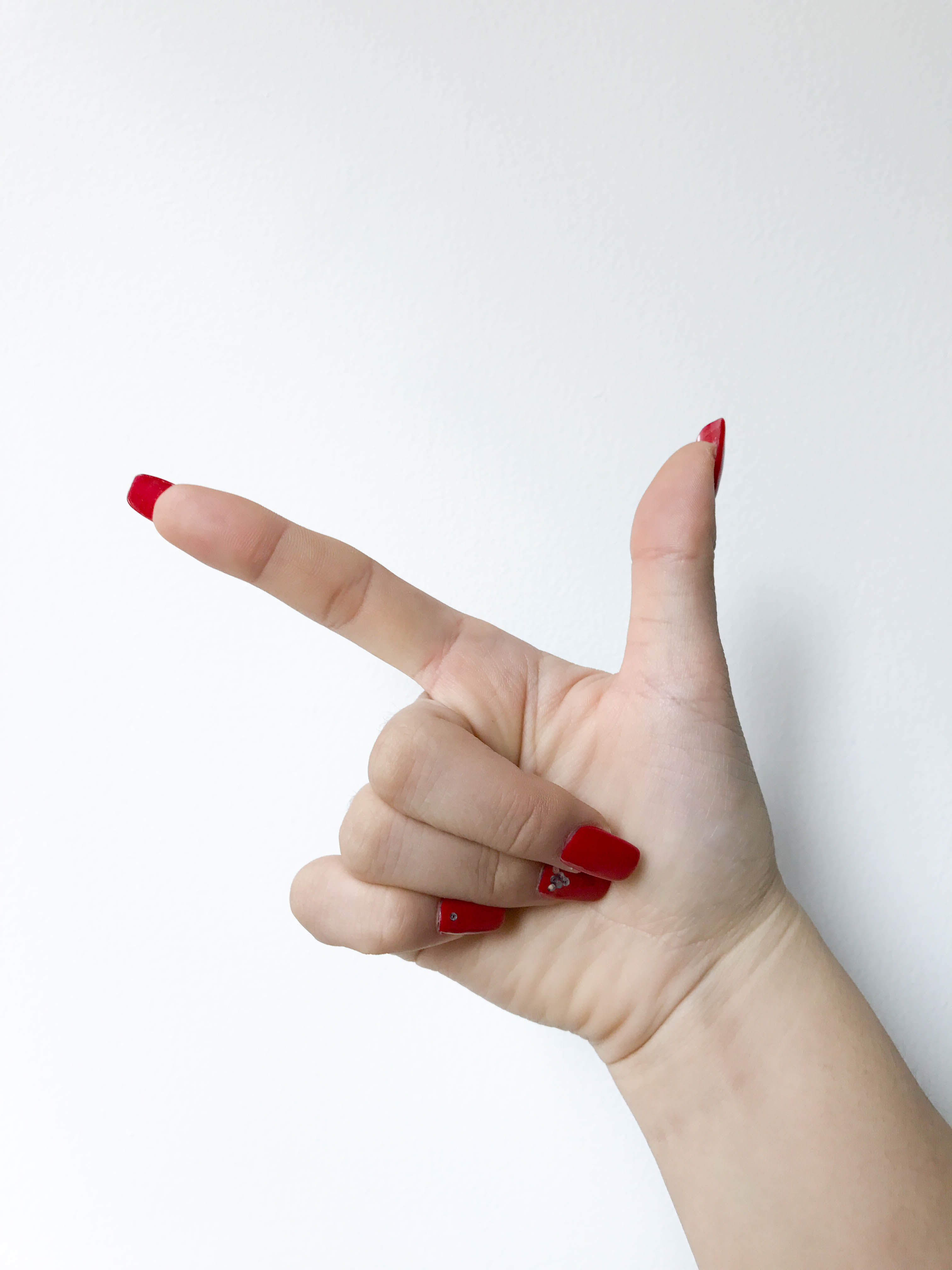 Chinese Number Hand Gestures - Eight