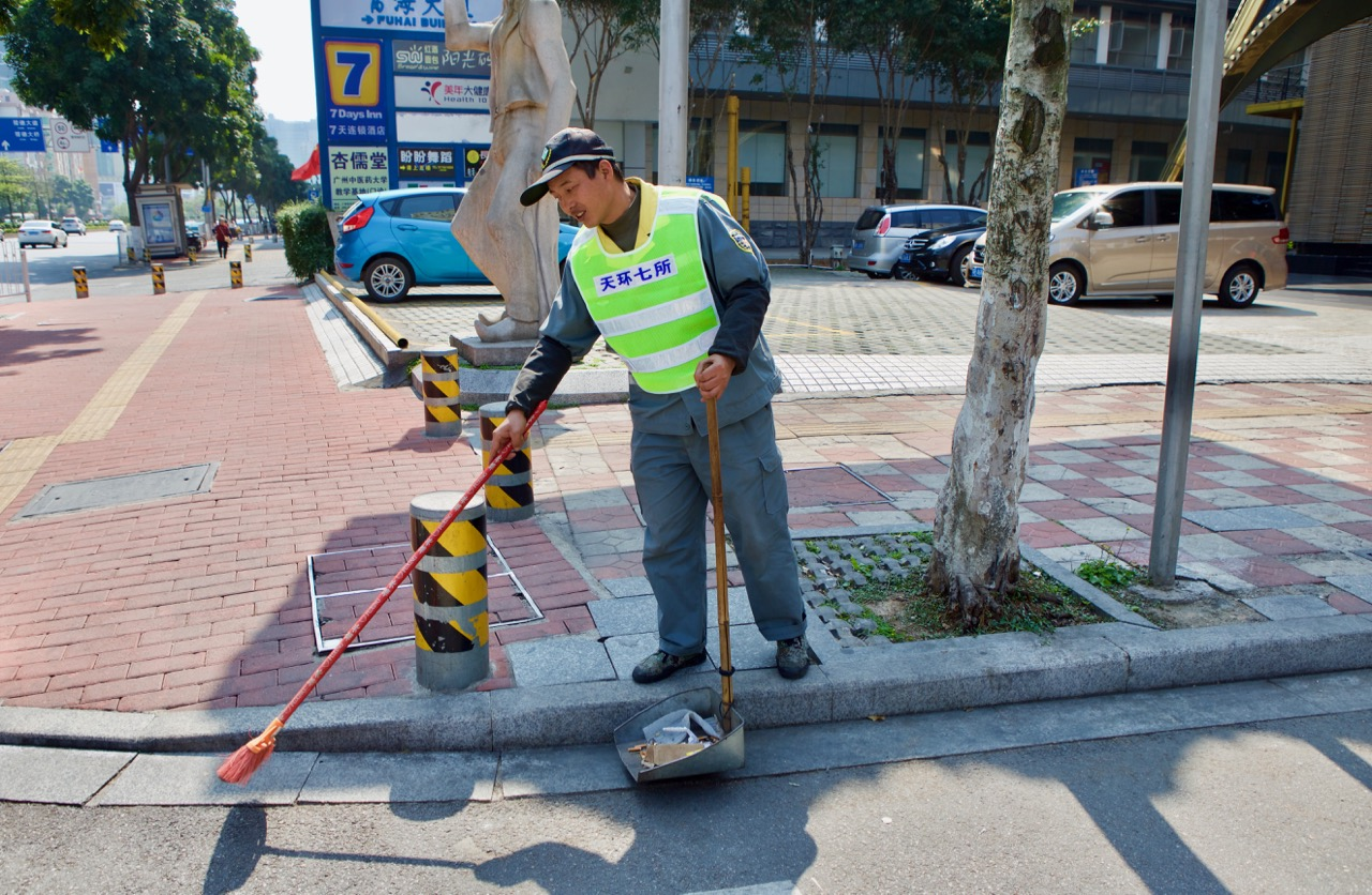 Man on the Street: City Street Sweeper