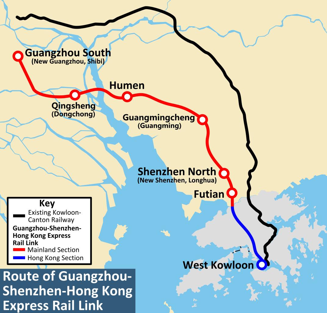 HighSpeed Train to Cut GuangzhouHong Kong Journey to 48 Minutes