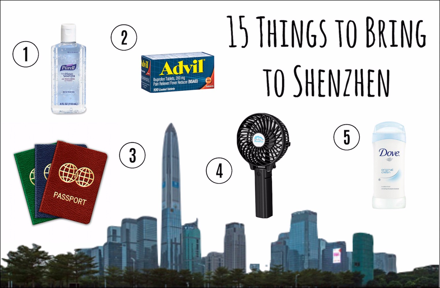 18 Things All Newcomers Absolutely Need to Bring to Shenzhen