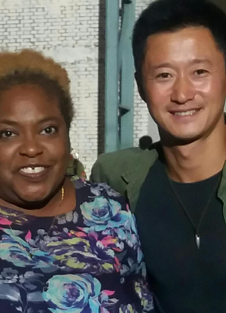 Ann James with Wu Jing