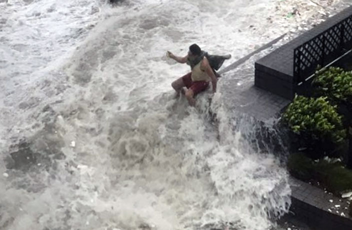 WATCH: Insane Videos of Typhoon Hato Making Landfall in China