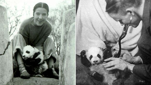 Ruth Harkness and Su Lin