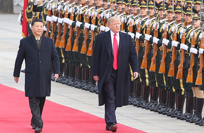 Trump and Xi Jinping in Beijing