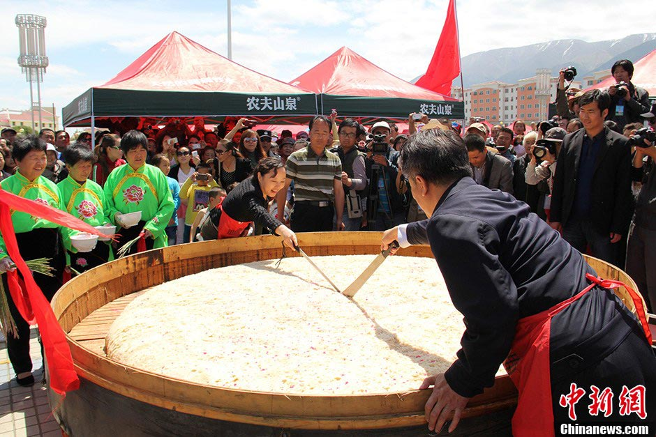 Largest steamed cake: 500 kilograms (2013)