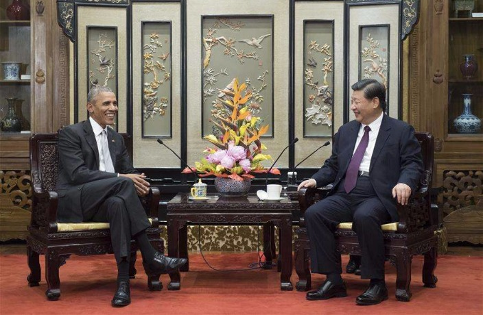 Xi Jinping Meets Obama in Beijing, Praises Him for Sino-US Relations