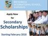 Britannica Secondary Scholarships