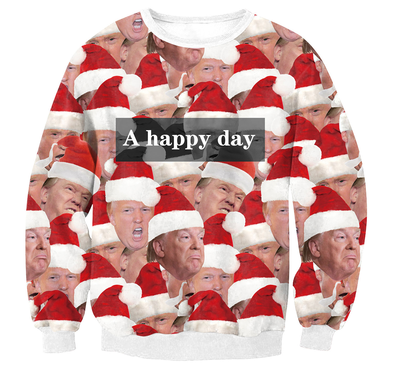 Hot on Taobao: Creepy Donald Trump Christmas Sweater