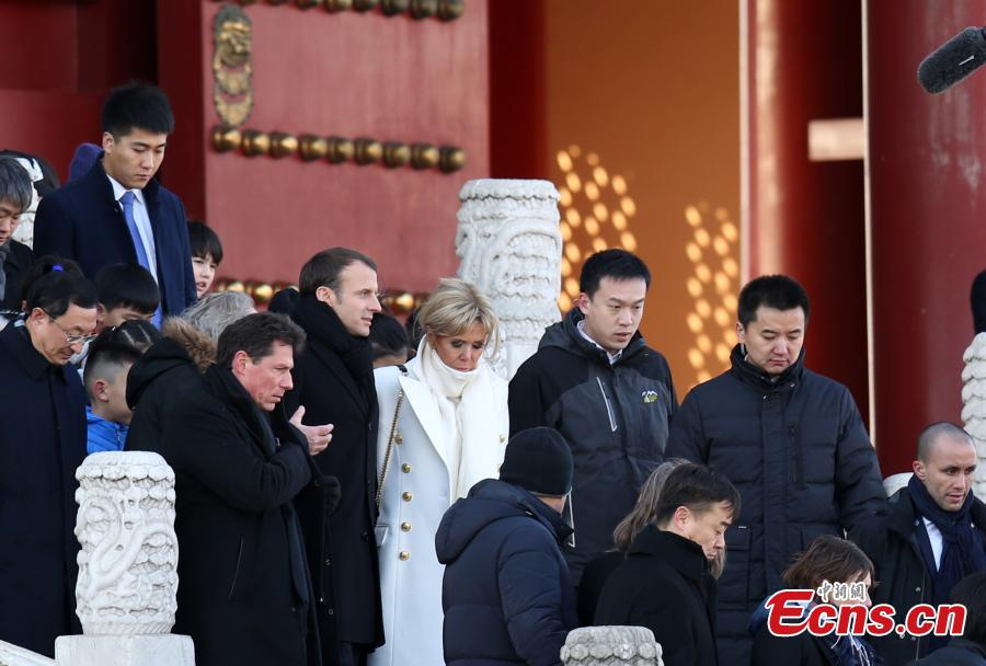 French President Macron Visits Forbidden City, Meets with Xi Jinping in Beijing