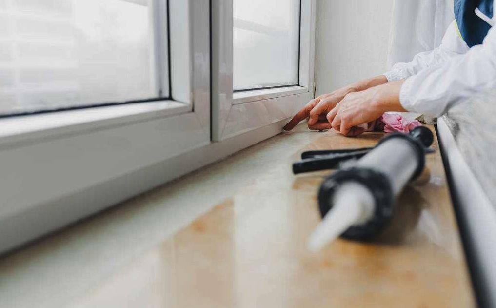 Stay warm seal windows with caulk