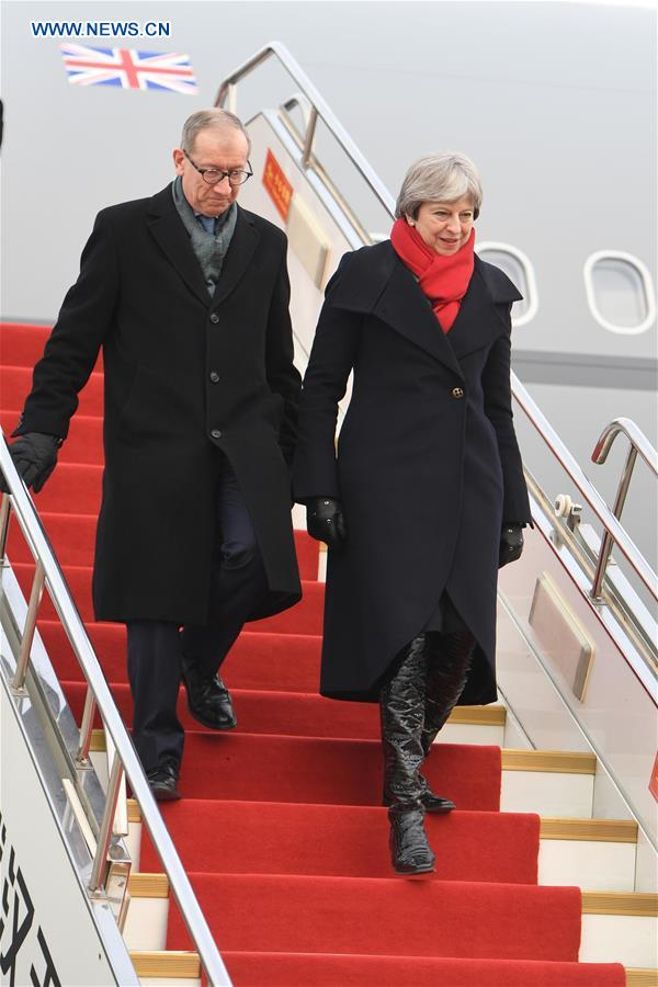 PHOTOS: UK Prime Minister Theresa May Arrives in China