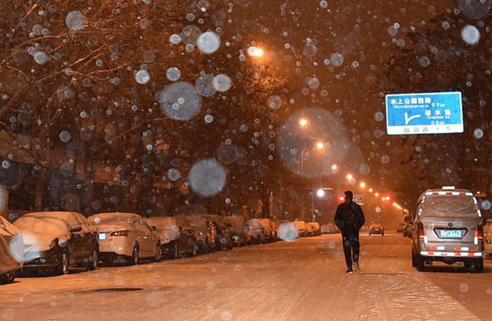 PHOTOS: First Snowfall of the Season Hits Tianjin