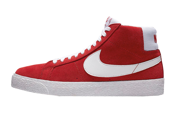 Nike red men's high top sneaker shoes