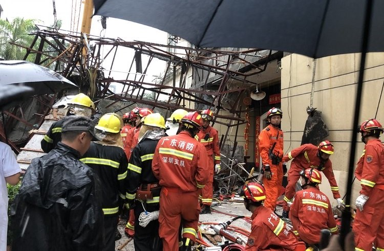 4 Killed in Canopy Collapse Caused by Storm in Shenzhen