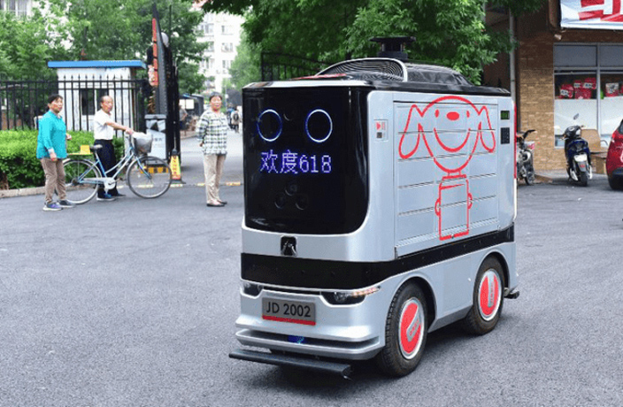 E-Commerce Giant Jingdong Debuts Delivery Robots in Beijing