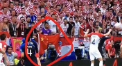 Lone Chinese Fan Waves China Flag at World Cup Final