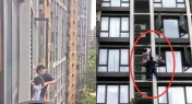 WATCH: Spider-Dad Climbs out 7th-Story Window to Save Son in South China