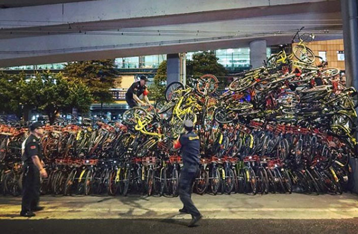 Over 300,000 Shared Bikes Removed from Guangzhou