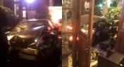 Porsche Crashes into Sasha's Garden in Downtown Shanghai