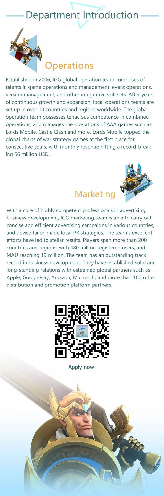 Join the World's Leading Game Developer IGG! Join Inter-G!