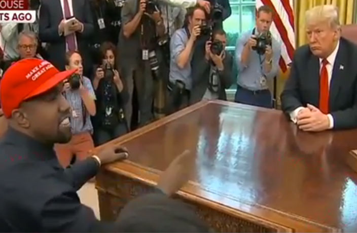 Kanye West Rants About China at White House Meeting with Trump