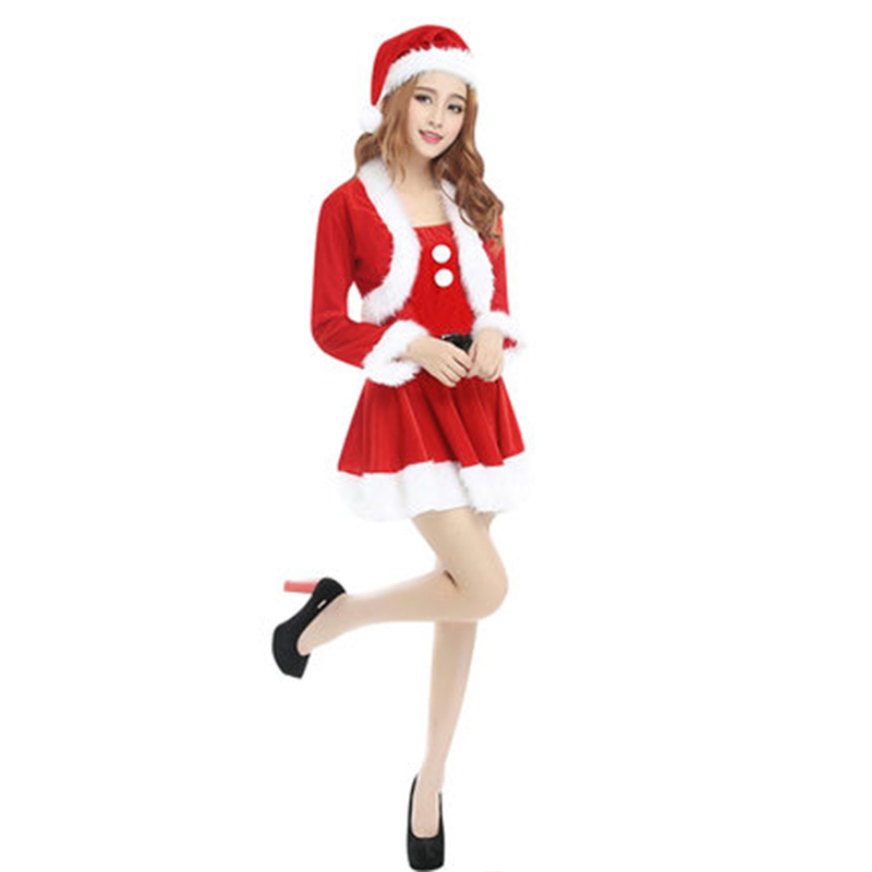 Santa Suits Christmas Costumes for Men and Women