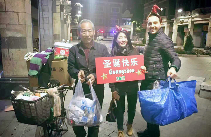 'Project Jingle Bells' Brings Christmas to Homeless in Guangzhou