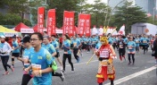 PHOTOS: Spiderman, a T-Rex and the Monkey King Attend Shenzhen Marathon 2018