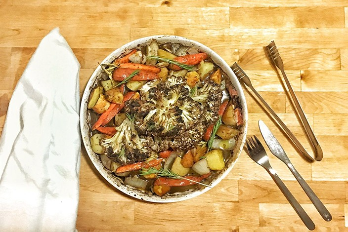 Veggie Mama's Vegan Red Wine Balsamic Cauliflower Roast Recipe
