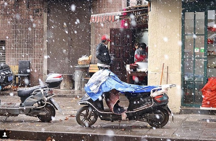 PHOTOS: It Snowed in Shanghai Over the Weekend!