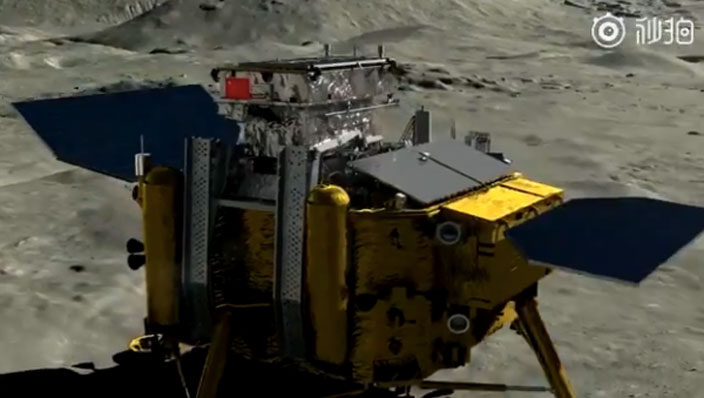 Chinese probe successfully lands on far side of moon, sends back images