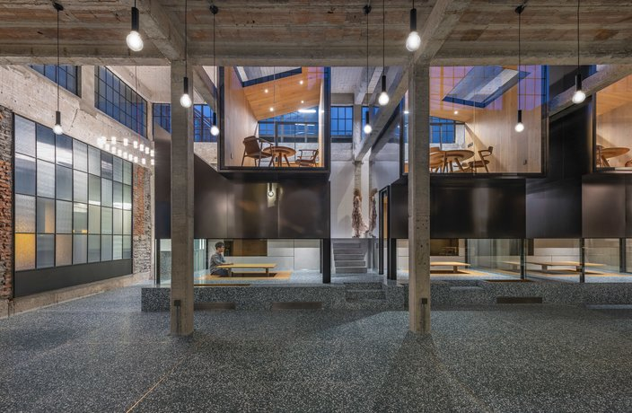 A Deserted Shanghai Factory Transforms into a Modern Teahouse