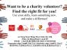 Charity Volunteers Wanted