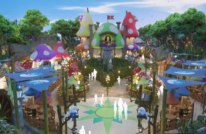 The Smurfs Theme Park Will Open in Shanghai This Year