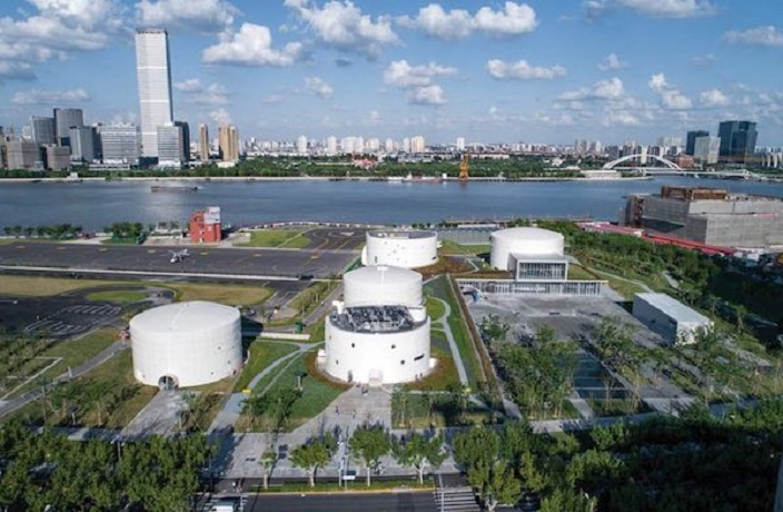 Abandoned Fuel Tanks Transformed into Shanghai's Coolest New Museum