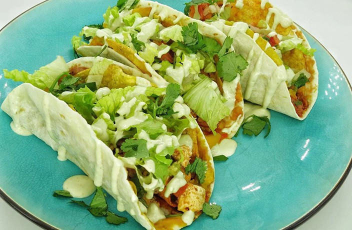 Veggie Mama's Vegan Double Decker Tofu Tacos Recipe