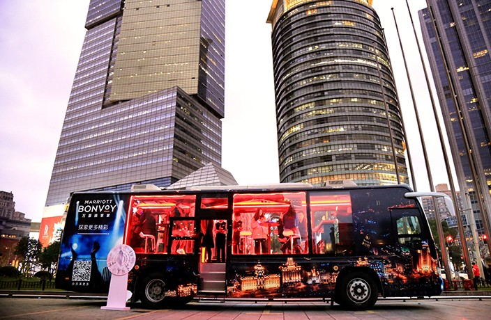 Marriott Bonvoy Celebrates New Travel Program with Shanghai Party Bus