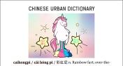 Chinese Urban Dictionary: Caihongpi